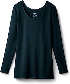 [BELMEZON] 保暖内衣 热棉・棉混长袖女装 黑色