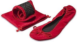 Mopec a937.14.1 鞋子 - 红色天鹅绒舞鞋,带袋,L 码,两件装