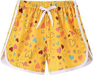Allesgut 女童运动短裤锻炼短裤各种图案,适合 3-8 岁