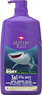 Aussie 艾希亚 儿童 G'Day 葡萄 3合1洗发水 + 护发素 + 沐浴露 - 27.5 液体盎司(774.8 毫升)(2 瓶装)