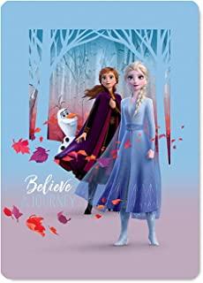 Disney 冰雪奇缘 2 Believe in The Journey 羊毛毯 99.06 x 149.86 厘米摇粒绒,适用于卧室、沙发、松软的沙发