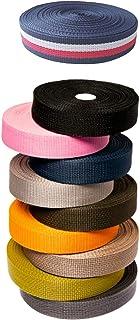 轻质聚丙烯织带,1 英寸,10-25-50 码,超过 10 种颜色 | Polypro (Poly) 绑带,适用于户外装备修理、工艺品、项圈、包、工装、挂脖、皮带 - 斗士用品 1英寸 x 10 码 STR1