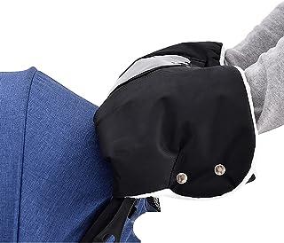 婴儿车手罩,通用推车手套,带触摸手机袋,防水手罩 Warmmuffs 适用于 Vista、Cru、Minu 和 Yoyo,婴儿车配件轮椅配件