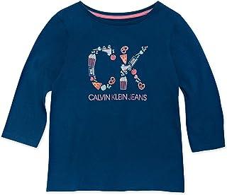 Calvin Klein 女童图案 T 恤