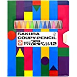 SAKURA 樱花牌 craypas COUPY-PENCIL彩色铅笔 12色 FY12-R1 附软盒