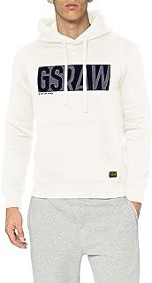 G-STAR RAW 男士贴花标志连帽运动衫