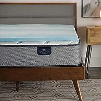 Serta Comfort Cool 凝胶*泡沫床垫套,大号,灰色