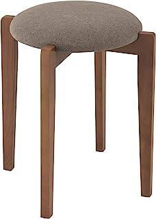 Doshisha 木制 凳子 天然木材 可堆叠 6种时尚颜色 ブラウン×グレー 幅40.5×奥行40.5×高さ46.5cm GRS-GY