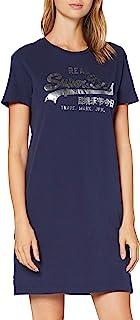 Superdry 女士复古标志 T 恤连衣裙