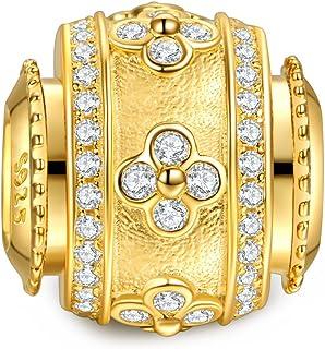 NINAQUEEN 花瓣路圣诞节珠宝礼物 送给妈妈 925 纯银女士串珠饰品 5A 方晶锆石礼物