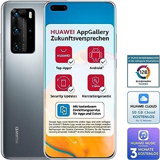 Huawei 华为 P40 Pro Dual-SIM BUNDLE (16.7cm (6.58英寸),256GB内部存储,8GB RAM,Android 10.0 AOSP 无Google Play商店,EMUI 10.0.1),霜银色