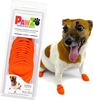 Pawz Orange Water-Proof Dog Boot, X-Small, Up to 2-Inch