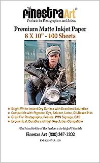 8x10-100 Sheets Premium Arctic Matte 喷墨打印纸 230gsm