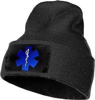 黑色针织无檐*帽男式和女式柔软冬季保暖手表帽,不起球,亚克力袖口渔夫无檐*帽