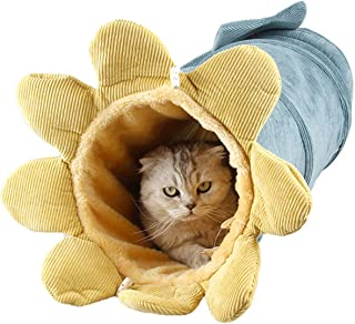 Funny Day 可折叠舒适猫隧道管 - 猫玩具管可以兼作柔软的猫床