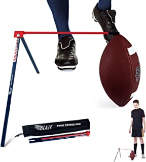 True Strike Pro 足球踢球 T 恤 - 优质球门踢球支架兼容所有球尺寸 - *便携赠送踢球改进追踪器