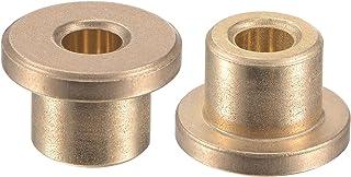 uxcell 法兰套筒轴承 4mm 孔径 8mm 长 12mm 法兰直径 2mm 法兰厚度烧结青铜自润滑衬套 2 件