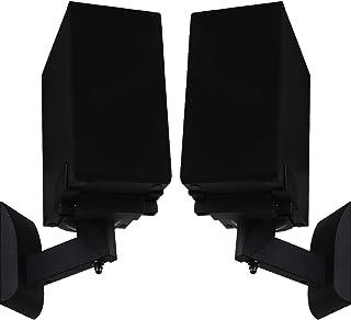 WALI Outlet Mount for Dot 2nd Generation and Other Voice Assistant 壁挂式支架支架,家庭空间节省完美配件,无杂乱电线或螺钉 (AMM001-B),黑色WL- SWM201  书架...