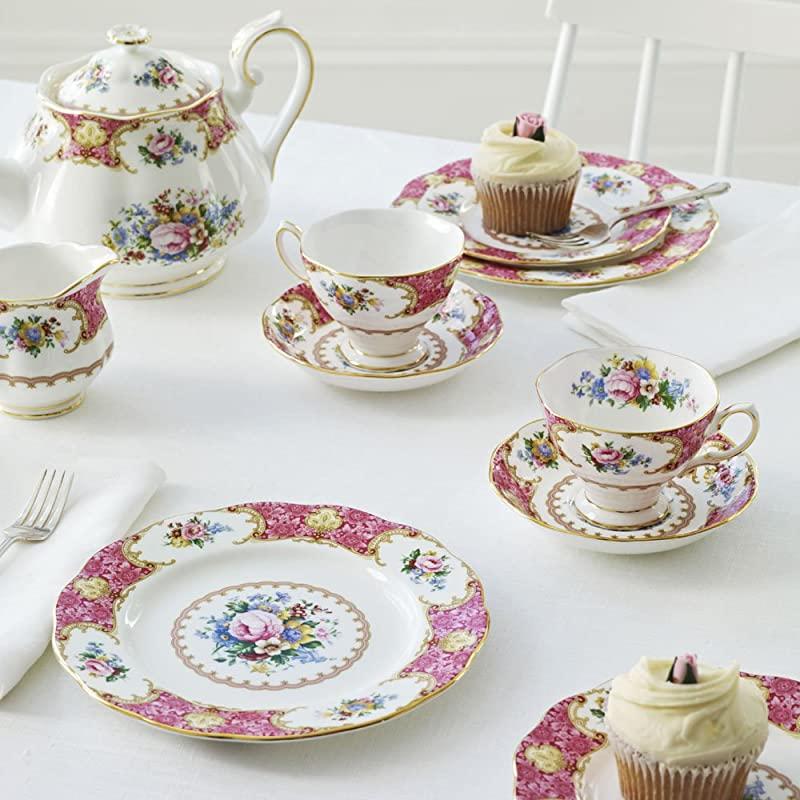 Royal Albert 皇家阿尔伯特 Lady Carlyle卡莱尔小姐 骨瓷杯碟餐具5件套 镇店之宝优惠码折后¥398.51