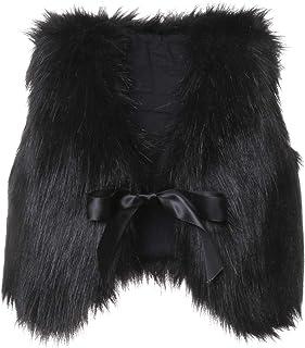 幼儿女婴人造毛皮背心外套冬季保暖马甲马甲外套外套