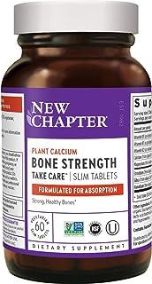 New Chapter 新章钙补充维生素K2 + D3 - 增强骨质,植物钙,含维生素D3 +镁 - 60粒薄片