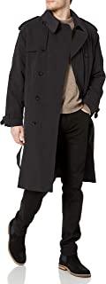 LONDON FOG 男式双排扣腰带 iconic 风衣,带拉链 OUT LINER