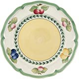 Villeroy & Boch 德国唯宝 法国花园芙蓉早餐圆餐盘 优质搪瓷 带有夏日水果图案,乡村风格,21厘米