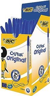 BiC Cristal Original 1.0 毫米圆珠笔 可重新填充 Pack of 50 蓝色