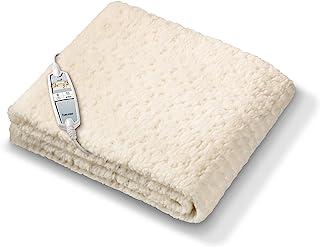 Beurer 博雅 UB 83 羊羔绒 单人 舒适-电热毯 羊羔绒面料 可分开调节加热区域。