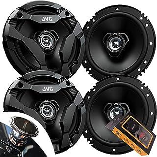 """2 对 JVC CS-DF620 6 1/2"""" drvn DF 系列同轴扬声器(4 个扬声器)带重力磁铁手机支架套装"""