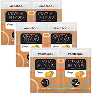 Pandaspa 水晶果冻 适用于修脚 水疗脚浴 浸泡和去角质*的脚 - 橙色(3 套)
