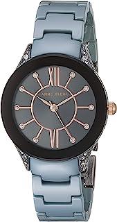 Anne Klein Women's Swarovski Crystal Accented Ceramic Bracelet Watch