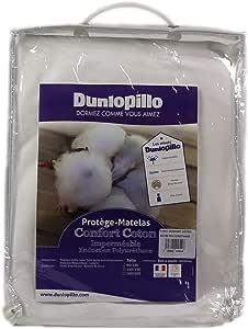 Dunlopillo 舒适棉聚氨酯无孔床垫保护罩白色