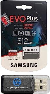 三星 512GB Micro SDXC EVO Plus (MB-MC512GA) 捆绑装 Class 10 UHS-1 适用于三星 Galaxy Note 9、S9、S9+、S8 手机以及一切 But Stromboli (TM) TF 读卡器