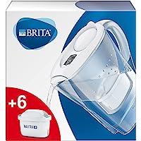 BRITA 碧然德 Marella 滤水壶 含6个MAXTRA+滤芯 减少水中的水垢,氯,铅,铜和影响口感物质,入门装…