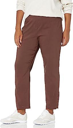 SLIM-SATION 女式加大码套穿纯色九分裤,前侧假口袋