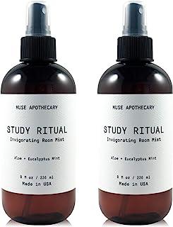 Muse Bath Apothecary Study Ritual - 香薰和活力房间喷雾,8 盎司(约 226.8 克),注入天然精油 - 芦荟+桉树薄荷,2 件装