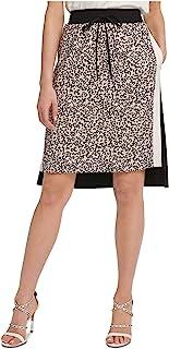 DKNY 女式印花双色 A 字裙黑色 XL 码