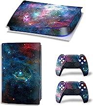 Ps5 贴纸全身乙烯基皮肤贴花盖适用于 Playstation 5 数字版控制台控制器(数字版,黑星空)
