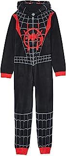 男孩蜘蛛侠《蜘蛛侠》带帽一件式毛毯睡裤,(尺码 XS 4/5,黑色)