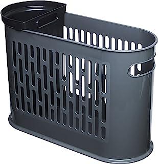 Gies 废纸篓 18 升,3.5 升,44.5 x 32.5 厘米 不含 BPA 灰色 - 德国制造