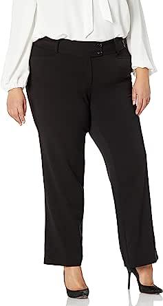Rafaella 女士大码曲线修身华达丁靴裤