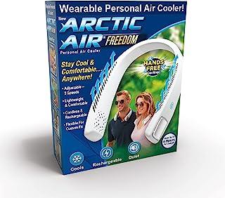 Ontel Arctic Air Freedom 便携式个人空气冷却器和个人 3 速颈风扇,免提轻便设计,无绳和充电