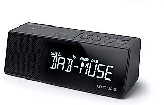 Muse M-172 DBT 时钟收音机 带蓝牙 USB 连接和充电功能 (蓝牙,NFC,USB,AUX-In,PLL FM DAB / DAB + 收音机,LED显示屏,20电台内存,*,贪睡)黑色