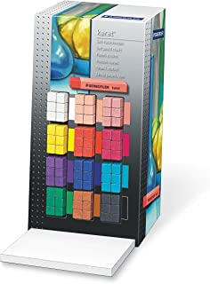 Staedtler 2430 CA72 柔和粉笔 Karat,艺术品质,72件显示屏,黑色