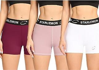 Starlemon 女式压缩排球短裤 7.62 厘米/17.78 厘米氨纶健身专业短裤 女式