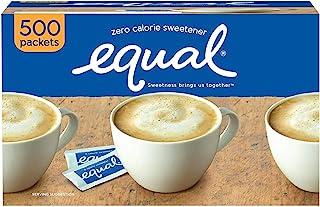 EQUAL 0卡路里甜味剂,糖替代品,零卡路里糖替代甜味剂包,糖替代品,500包
