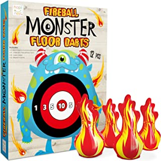 Hapinest Fireball 怪兽地板飞镖户外庭院游戏适合 4 岁及以上的儿童成人和家庭使用 | 户外有趣的后院游戏