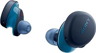 SONY 索尼 WF-XB700 EXTRA BASS 真正的无线耳塞式耳机/带电话麦克风的蓝牙技术,蓝色
