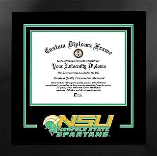 Campus Images NCAA 诺福克州斯巴达男女皆宜的精神文凭曼哈顿黑框附赠平版版画,黑色,均码